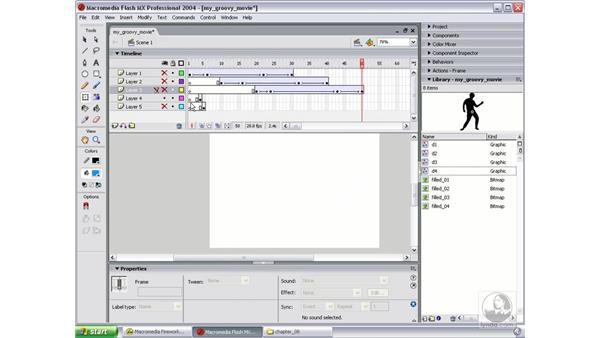 create dancers movie clip: Studio MX 2004 Web Workflow