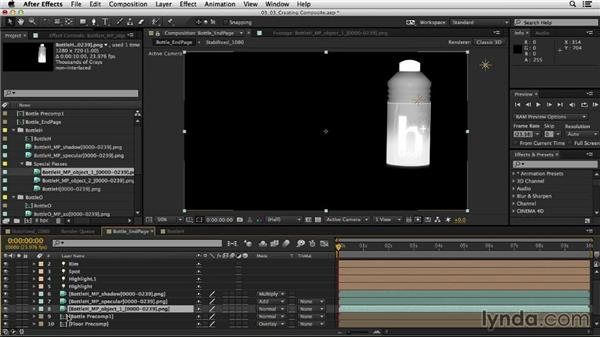 Creating the final composite: Mograph Techniques: Creating a Product Endpage