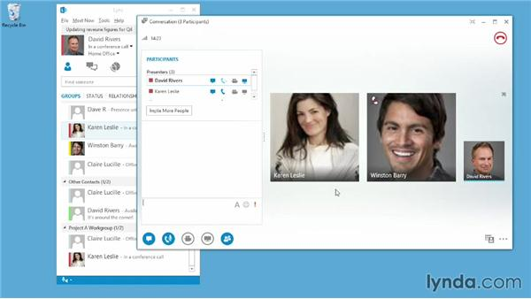 Desktop, application, and whiteboard sharing: Up and Running with Lync Online