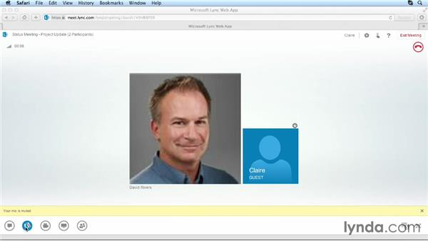 Joining a meeting from a browser: Up and Running with Lync Online