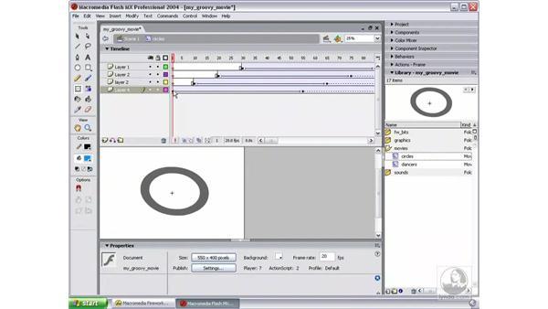 continue circles movie clip: Studio MX 2004 Web Workflow