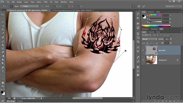 Transforming and warping a vector object: Photoshop CC 2013 One-on-One: Advanced
