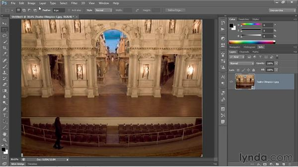 Removing people from a scene with Median: Photoshop CC 2013 One-on-One: Advanced