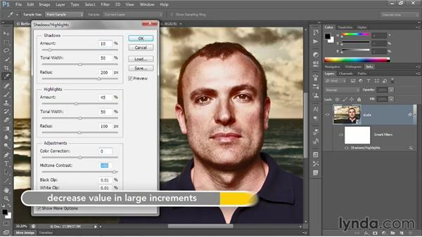 Enhancing the effects of Midtone Contrast: Photoshop CC 2013 One-on-One: Advanced