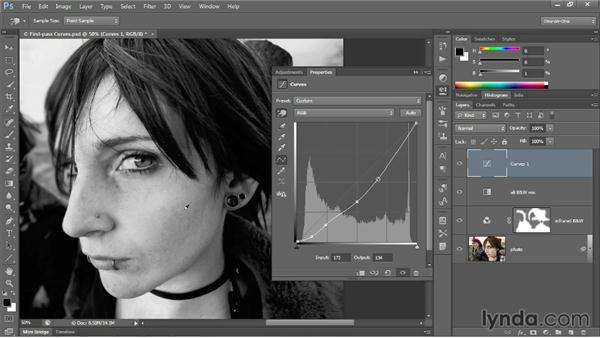 Adding and editing points on a curve: Photoshop CC 2013 One-on-One: Advanced
