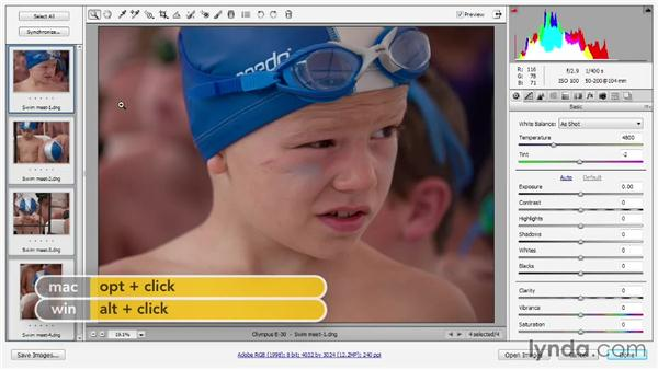 Opening and editing multiple images: Photoshop CC 2013 One-on-One: Advanced