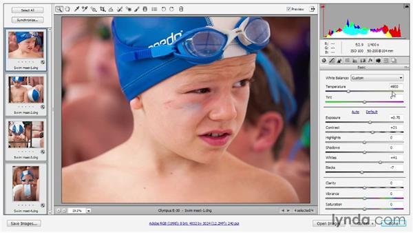 Correcting white balance: Photoshop CC 2013 One-on-One: Advanced