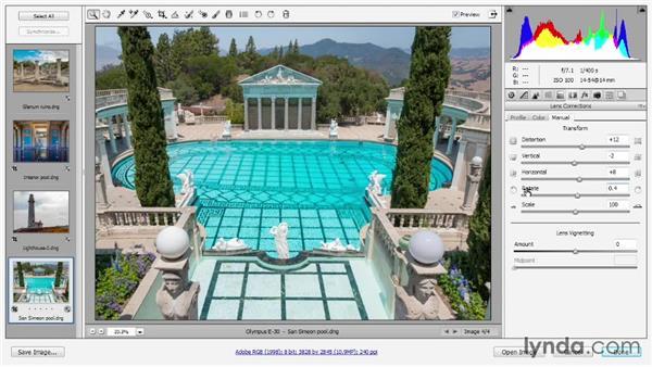 Vignette, chromatic aberration, and fringe: Photoshop CC 2013 One-on-One: Advanced