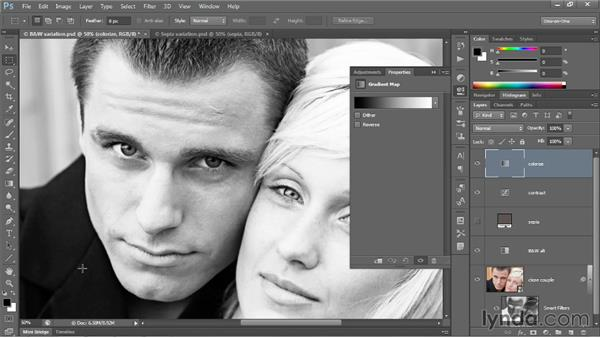 Introducing the Gradient Map adjustment: Photoshop CC 2013 One-on-One: Advanced