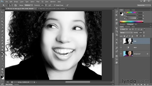 Creating a faux-color, high-key effect: Photoshop CC 2013 One-on-One: Advanced