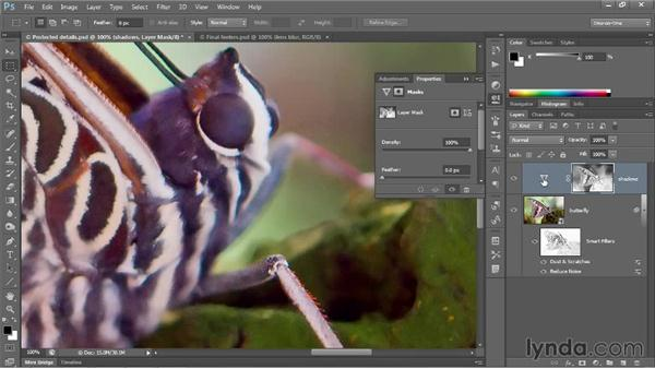 Adjusting overly saturated shadows: Photoshop CC 2013 One-on-One: Advanced