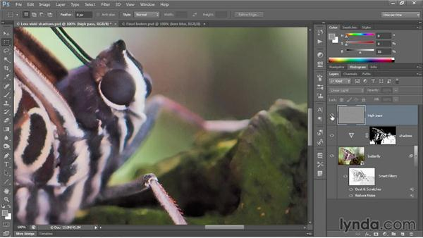 Correcting with High Pass and Lens Blur: Photoshop CC 2013 One-on-One: Advanced