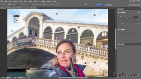 Adjusting your Field Blur settings: Photoshop CC 2013 One-on-One: Advanced