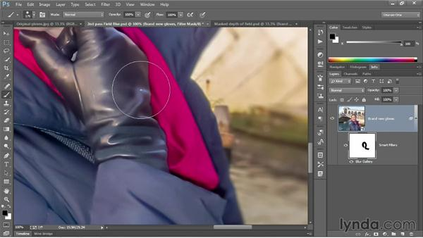 Editing and exporting a Field Blur mask: Photoshop CC 2013 One-on-One: Advanced