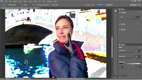 Adding a synthetic light bokeh: Photoshop CC 2013 One-on-One: Advanced