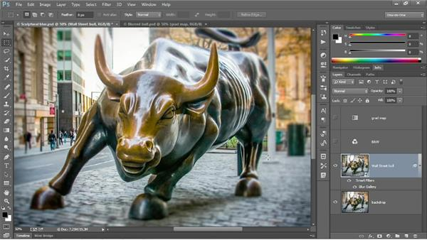 Creating a radial blur with Iris Blur: Photoshop CC 2013 One-on-One: Advanced