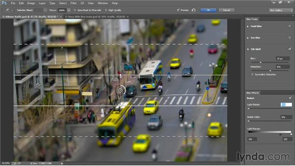 """Creating """"fake miniatures"""" with Tilt-Shift: Photoshop CC 2013 One-on-One: Advanced"""