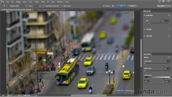 Combining multiple Blur Gallery effects: Photoshop CC 2013 One-on-One: Advanced