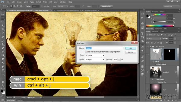 Blending inside blend modes: Photoshop CC 2013 One-on-One: Advanced