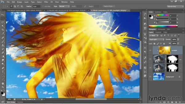 Overlay and the contrast modes: Photoshop CC 2013 One-on-One: Advanced