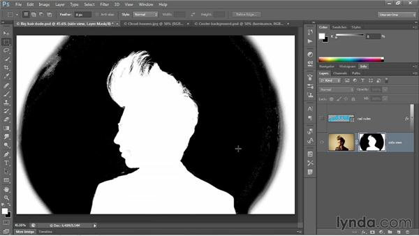 Laying down a base layer mask: Photoshop CC 2013 One-on-One: Advanced
