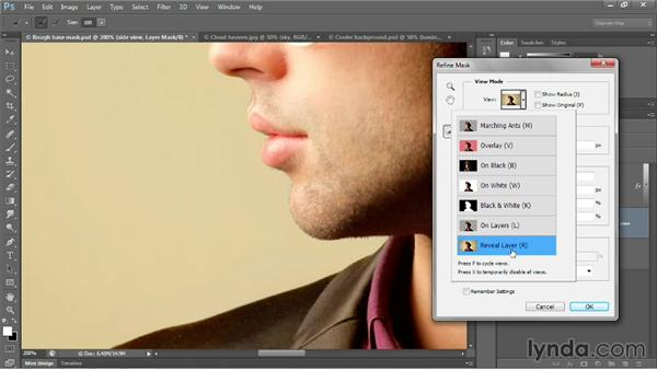 Introducing the Refine Edge/Mask command: Photoshop CC 2013 One-on-One: Advanced