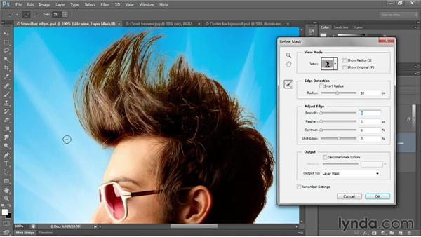 Edge detection and Smart Radius: Photoshop CC 2013 One-on-One: Advanced