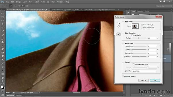 Using the Refine Radius tool: Photoshop CC 2013 One-on-One: Advanced