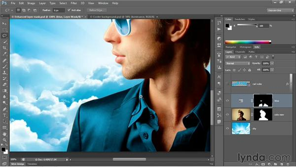 Combining Quick Selection with Refine Mask: Photoshop CC 2013 One-on-One: Advanced