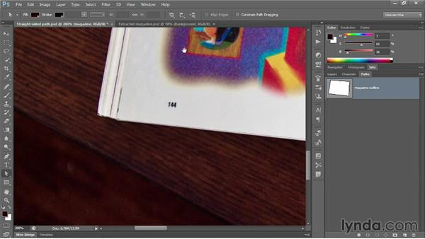 Moving, deleting, and adding anchor points: Photoshop CC 2013 One-on-One: Advanced