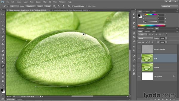 Drawing smooth points with the Pen tool: Photoshop CC 2013 One-on-One: Advanced