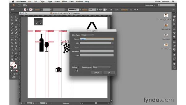 Using the Slice tool in Illustrator: Design the Web: Slice Tool