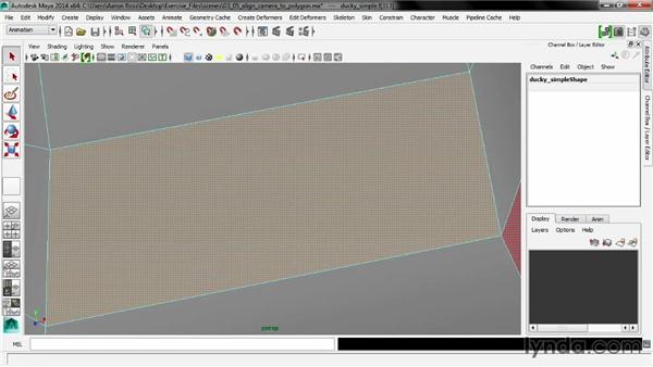 Aligning the camera to a polygon: Maya 2014 New Features