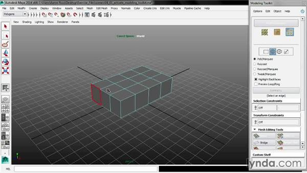 Activating the Modeling Toolkit: Maya 2014 New Features