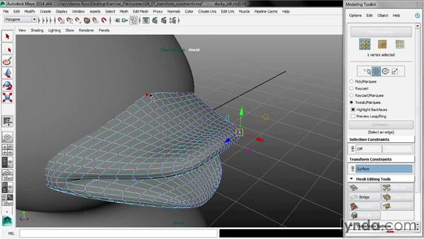 Setting transform constraints: Maya 2014 New Features