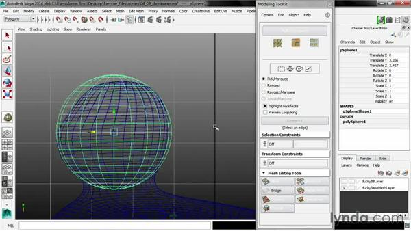 Shrink wrapping a selection: Maya 2014 New Features