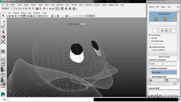 Retopologizing with Quad Draw: Maya 2014 New Features