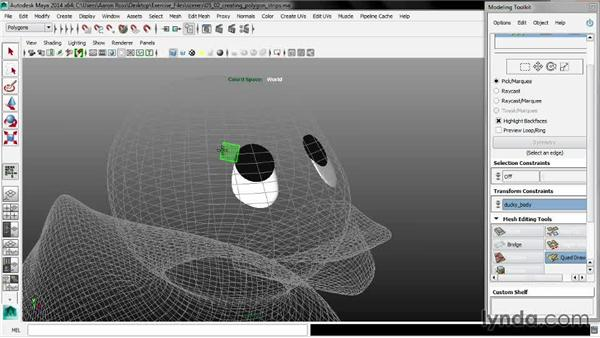 Creating polygon strips: Maya 2014 New Features