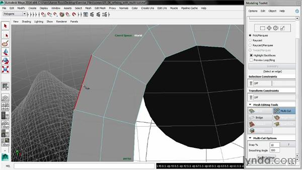 Refining with Multi-Cut: Maya 2014 New Features