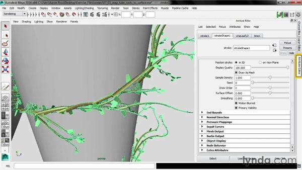 Snapping tube roots to surfaces: Maya 2014 New Features