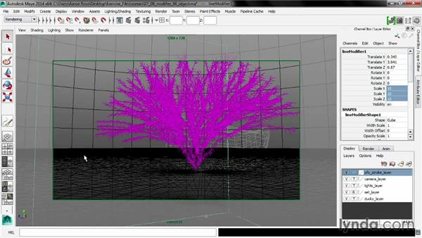 Setting a modifier fill object: Maya 2014 New Features