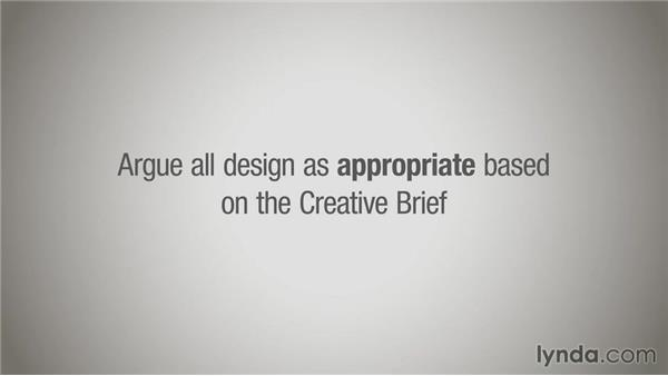 Evaluating design based on a creative brief: Running a Design Business: Creative Briefs