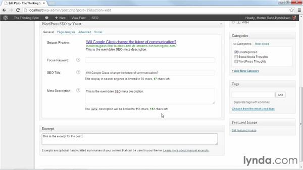 Adding SEO info to posts and pages: WordPress Plugins: SEO