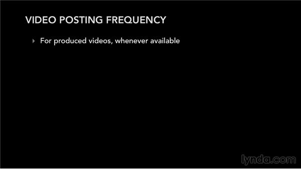 Posting frequency strategy: YouTube for Musicians and Bands