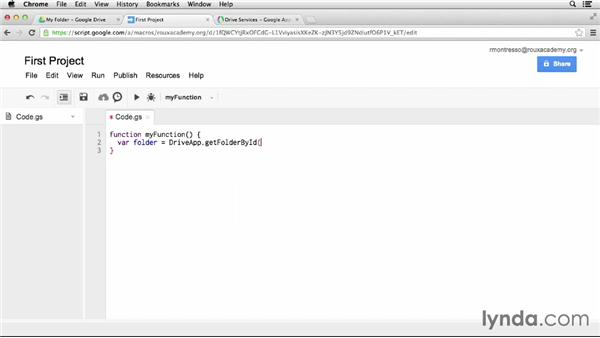 Working with files in Drive: Up and Running with Google Apps Script (2013)