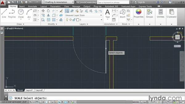 Creating blocks: AutoCAD 2014 Essentials: 05 Working with References