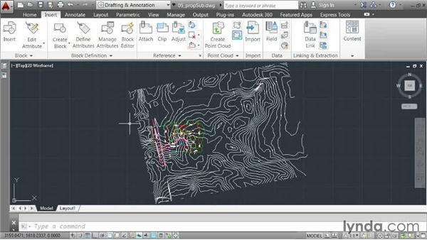 Clipping an external reference: AutoCAD 2014 Essentials: 05 Working with References