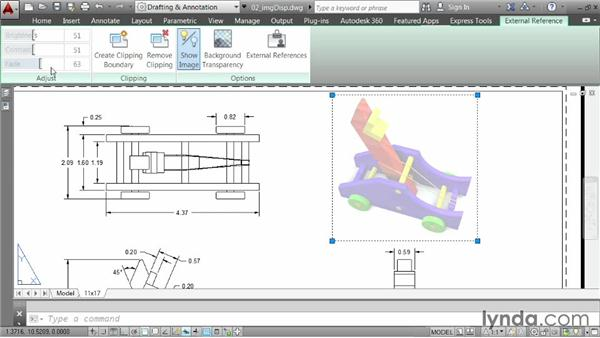 Editing the appearance of images: AutoCAD 2014 Essentials: 05 Working with References