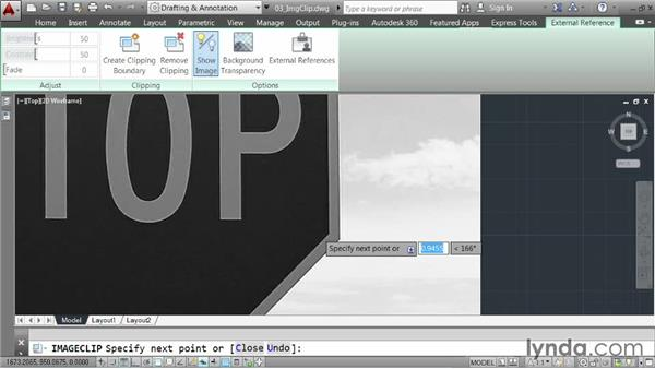 Clipping images: AutoCAD 2014 Essentials: 05 Working with References