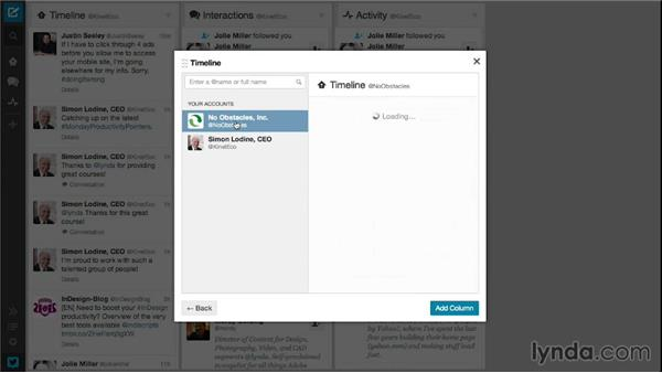 Using Tweetdeck to handle multiple accounts